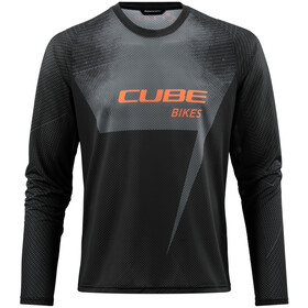 Cube Edge Jersey Longsleeve Ronde Hals Heren, black´n´orange